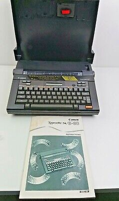 Canon Typestar 5 III / S-80 Electronic Typewriter - Working With Manual & Case