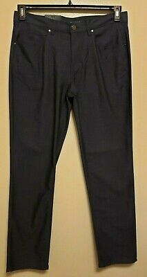 3dbabe5c61 NWT PERRY ELLIS Stretch Slim Fit Low Rise Straight Leg Med Indigo Pants  34x32