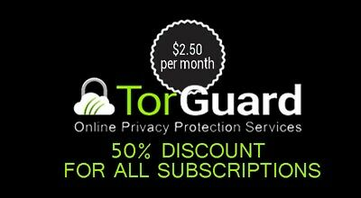 Torguard 50 % off Coupon / promo code / discount