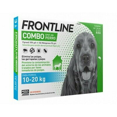 Frontline Combo for Medium Dogs - Tick and Flea Spot On treatment - Free Ship.