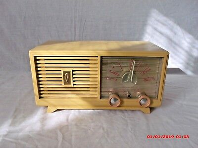 Vintage Philco AM Radio Model D-597-124 Tube Operated ~ Working ~