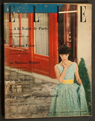 'elle' French Vintage Magazine 20 May 1957