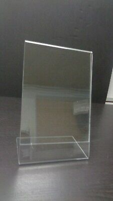 "AZAR Dazzling Slanted Displays 10-pack Acrylic 5 1/2""W X 8 1/2""H  Sign Holders"
