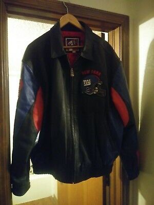 adab4b00d New York Giants NFL Leather Jacket Mens G-III G3 Sports by Carl Banks XL