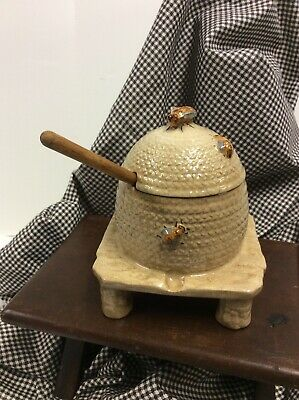 Antique Staffordshire bee skep