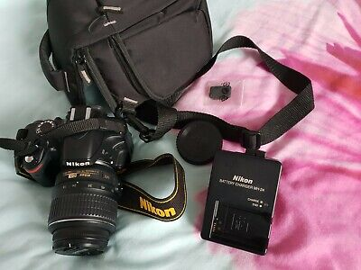 Nikon D3200 24.2MP Digital SLR Camera - Black (Kit w/ AF-S DX VR 18-55mm Lens)