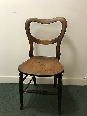 Old Vintage Antique Old Wooden Chair Beautiful Made