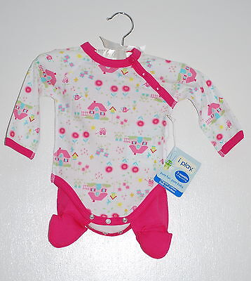 NWT iPlay Infant Girls Pink House Print Organic Cotton Two Piece LS Sets 6M 9M