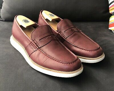 1d12dc177d5 COLE HAAN Lunargrand Penny Loafer Maroon Leather Mens Size 11 - Great Shape