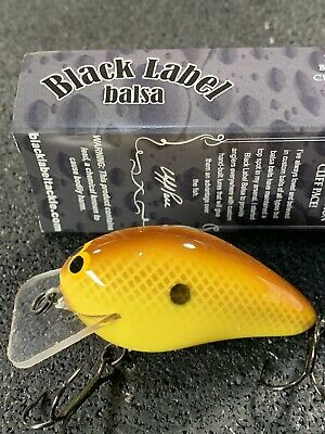 Ricochet Mini Chartreuse Illusion Black Label Balsa Custom Balsa Crankbait