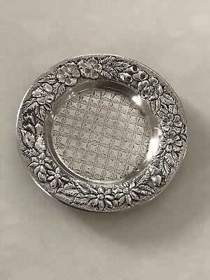 Kirk Coin Silver Repousse Butter Pad
