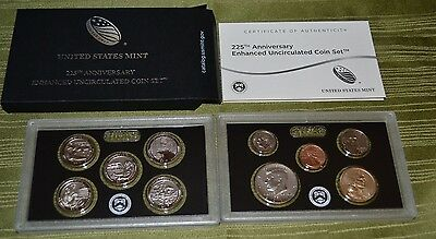 2017 S 225th Anniversary Enhanced Uncirculated 10 Coin US Mint Set READY To SHIP