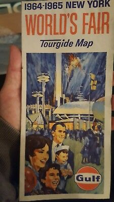 Old Vtg Gulf 1964-1965 New York World's Fair Tourgide  Road Map