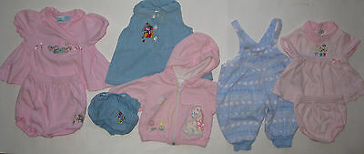 8 Piece Lot Girls's Spring Clothing Jacket Overalls Dresses Bloomers 3/6 Months