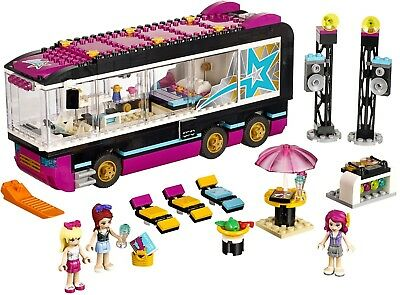 Lego Friends 41106 Pop Star Tour Bus 100 Complete With Manuals And