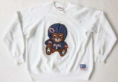 b8ae9ae9d97 Vintage Chicago BEARS NFL Football Teddy Bear Nutmeg Crewneck Sweater MEDIUM