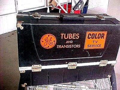 Vacuum Tube Caddy Case GE Color TV Service Tubes and Transistors