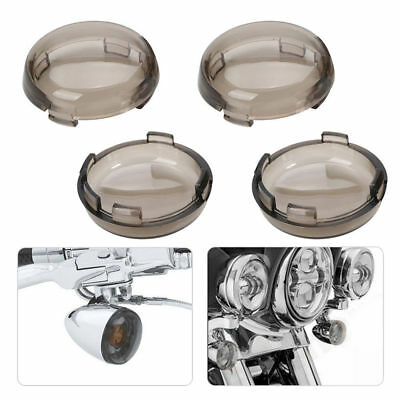 4pcs Smoke Lens Turn Signal Light Cover For Harley Davidson Dyna Sportster