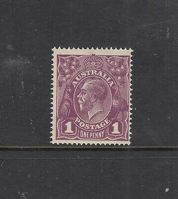 KGV SIDEFACES SINGLE WATERMARK: 1d Red-violet SG 57b MUH,