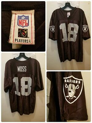 Oakland Raiders Jersey NFL Randy Moss   18 Size Large NFL Players Los  Angeles 383d18cb7