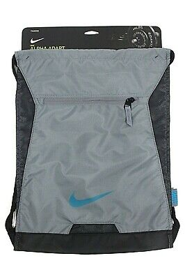 05b8c20755a0 NIKE ALPHA ADAPT GYMSACK ROYAL Grey Blue DRAWSTRING BAG BACKPACK GYM SACK  BA5256