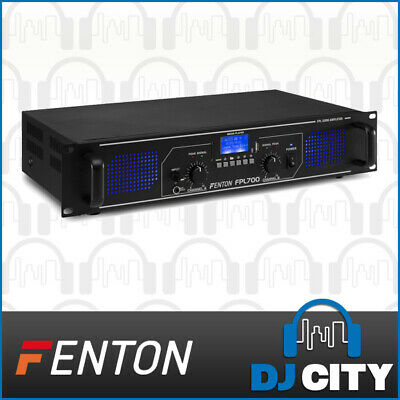 700W Power Amplifier 2-Channel FPL700 PA DJ Amp w/ Bluetooth and MP3 Player