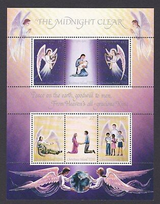 1980 CHRISTMAS ISLAND - Christmas THE MIDNIGHT CLEAR  - Angels MINI SHEET UM MUH