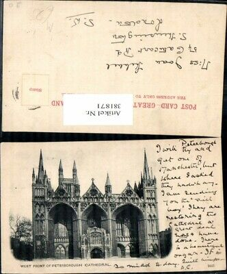 381871,Kirche West Front of Peterborough Cathedral Kathedrale