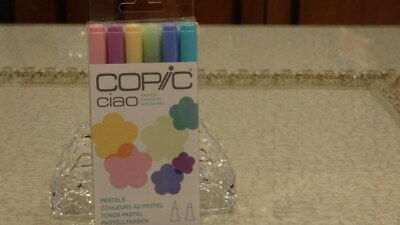 BRAND NEW & SEALED PACK - COPIC CIAO MARKERS - PASTELS Dual Tipped Markers