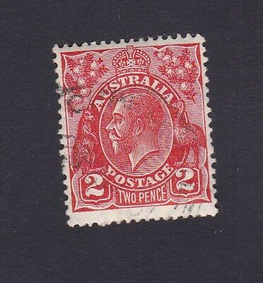 Australia 1930 2d RED DIE III KGV Small multi wmk 13.5 x 12.5 RS1 USED / CTO