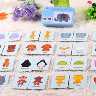 Baby Child Animals Educational Cards Puzzles Game Preschool Development Toy SW