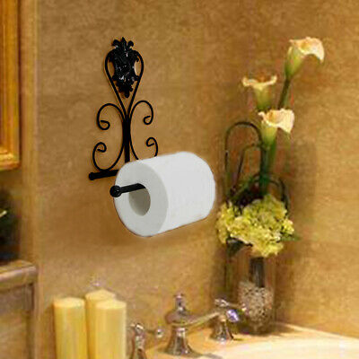 Vintage Antique Retro Traditional Industrial Chic Cast Iron Toilet Roll Holder