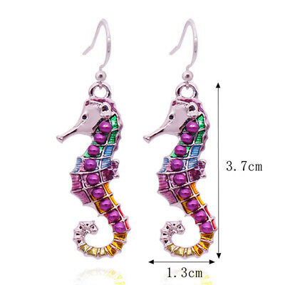 Sea Horse Elegant Animal Stud Earrings for Fashion Jewelry Hot Gift Women SW