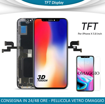 Display Tft Iphone X Vetro Frame Lcd Completo Apple Iphone 10 Come L'originale