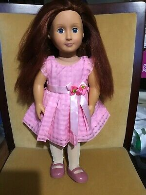 Our Generation Battat Doll Blue Sleeping Eyes Red Hair 46cm Tall Excel. Cond.