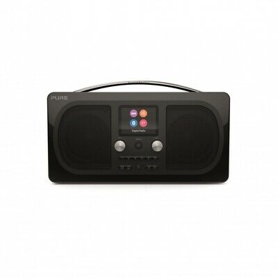 Pure Evoke H6 Stereo DAB+/FM Radio & Bluetooth - Prestige Edition, Black
