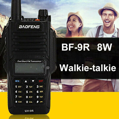 8AB1 IP67 Two-Way Radio Dual Band Walkie Time-Out Timer 128CH 8W 10KM Range