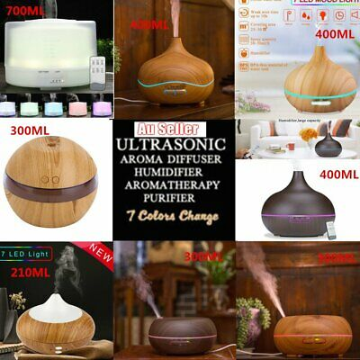 Essential LED Oil Ultrasonic Diffuser Air Humidifier Purifier Aroma Aromatherapy