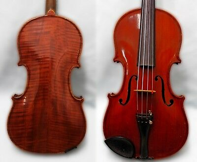 4/4 Full size 100+ years OLD ANTIQUE BOHEMIAN VIOLIN