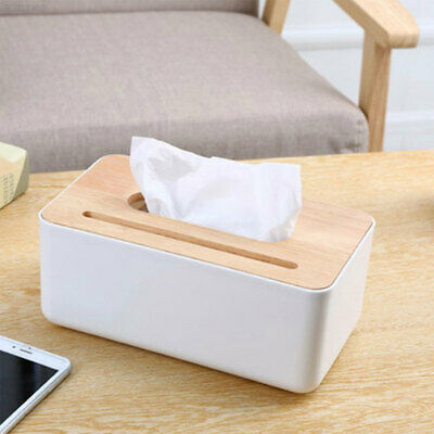 AD54 Fashionable Tissue Box Storage Box Home Wood Pp Space Saver Table