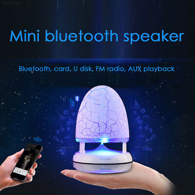8F0F Wired Speaker Portable Audio 7 Colorful Lights USB 3.5MM Audio Jack
