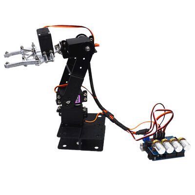 4DOF Robot Arm Manipulator Clamp Kit for Kids to Learn Robotics Electronics