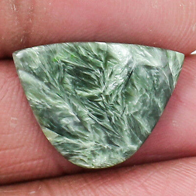 Natural Green Seraphinite Cabochon Loose Gemstone Freeform Free Shipping MGS1571