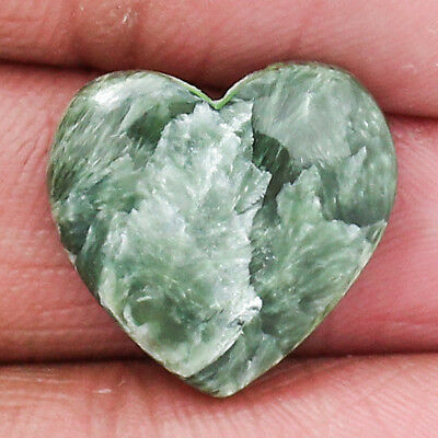 Natural Green Seraphinite Cabochon Loose Gemstone Freeform Free Shipping MGS1570