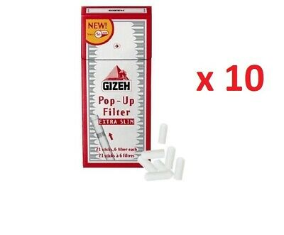 GIZEH POP-UP EXTRA SLIM FILTERS 3 FULL BOXES =30 PACKS x 126 FILTERS
