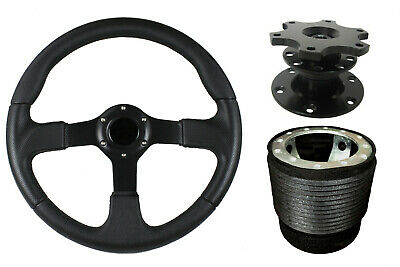 F2 BLACK Sports Quick Release Steering Wheel + Boss Kit 42BK fits SUZUKI 001