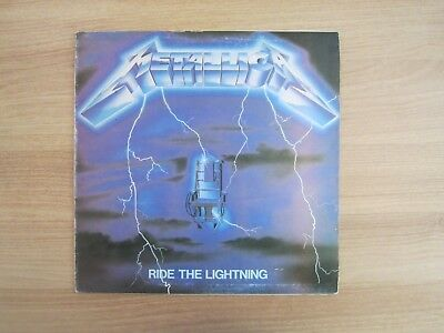METALLICA RIDE THE LIGHTNING Korea Lyric Back Cover LP