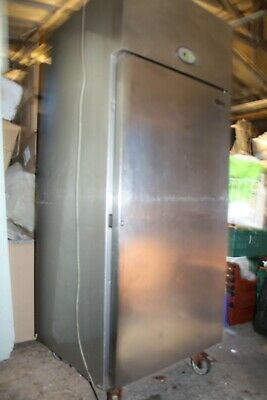 Foster Single Door Commercial Catering Fridge Stainless Steel - needs attention