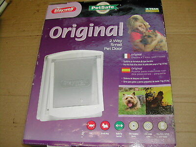 Petsafe Staywell Original 2 Way Small Pet Door Dog Cat Kitten Puppy White Flap
