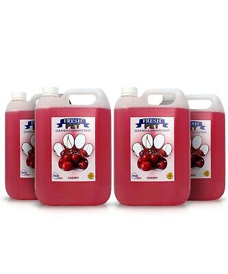 Pet Deodorising Disinfectant Cleaner & Protector 4 x 5L PREFILLED CHERRY